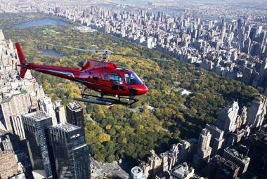 Rutas en helicóptero sobre Manhattan